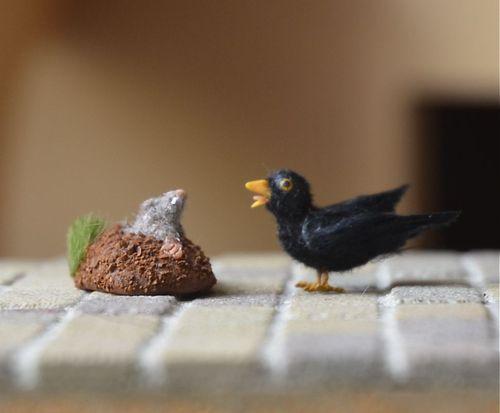 Black bird and mole