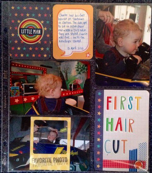 Jan 8 - First Hair Cut