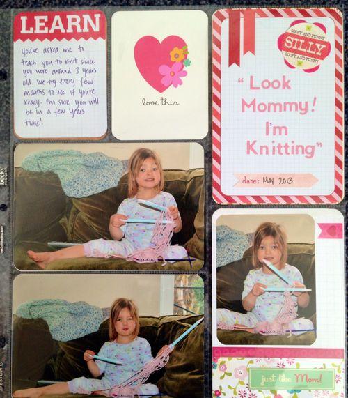 Jan 30 - Noemie Knitting