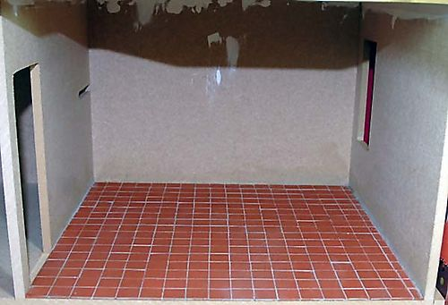 Scullery flooring - May 25